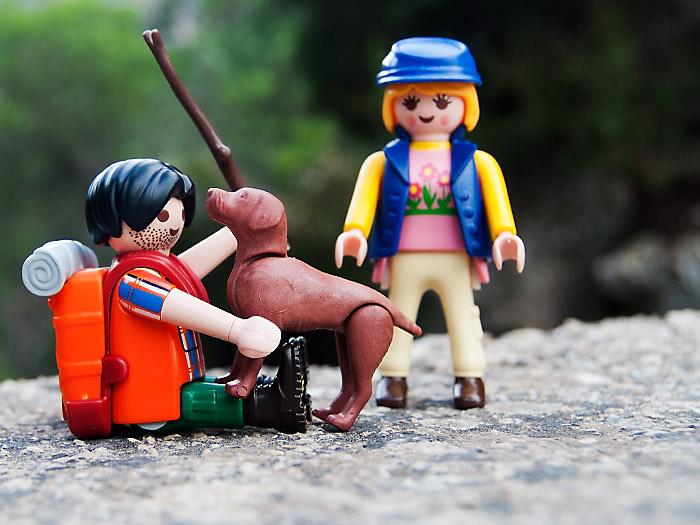 Playclicks, Playmobil , Lego, Beceite,Beseit,perro dyc